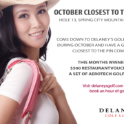 October Closest To the Pin at Delaneys Golf